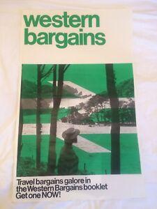 British Rail travel logo green Poster original vintage 1970s