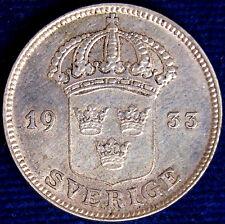 50 ORE 1933 G SVEZIA SWEDEN ARGENTO SILVER #7377