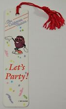 VINTAGE 1987 THE CALIFORNIA RAISINS LET'S PARTY APPLAUSE BOOKMARK