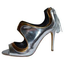 Rupert Sanderson Iridescent Silver/Gold Leather Shoes/Booties UK4/EU37