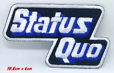 Status Quo English rock band Embroidered Iron or Sew On Patch #1291