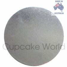 "NEW! 10"" PACK OF 5PC SILVER ROUND CARDBOARD CAKE BOARDS FOR CRAFT CAKES CUPCAKES"