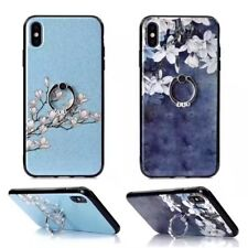 3D Ring Stand Crystal Bling Glitter Shockproof Case Cover Silicone Soft Bumper