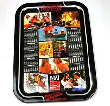 Coca-Cola Coke 45 cm Blech Tablett USA Serviertablett Kalender 1981 Serving Tray