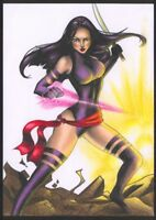 a02176 Psylocke original drawing art by Hivec ⭐AlbertStoneGallery⭐