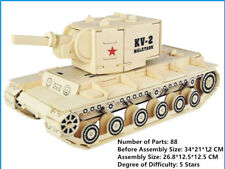 New Assembly DIY Education Toy 3D Wooden Model Puzzles Of KV-2 Heavy Tank Weapon