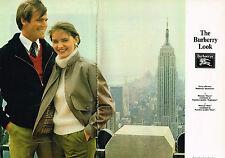 PUBLICITE ADVERTISING 104  1981  THE BURBURRY LOOK   pret à porter ( 2pages)