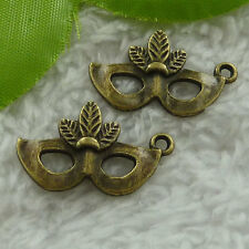 Free Ship 200 pcs  bronze plated blinder charms 26x16mm #2535