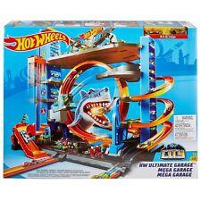 Hot Wheels Ultimate Garage Tower Shark Loop Racetrack * 2 Vehicles Set BRAND NEW