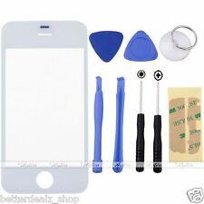 Replacement Front Outer Screen Glass Lens + 8 Tools for Apple iPhone 4S White