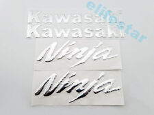 Motorcycle Chrome 3D Raised Kawasaki Ninja Emblem Fuel Tank Decal Sticker Set