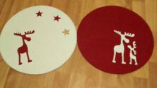 Weihnachtsfilzdeckchen (2), rund , 1 rot, 1 weiß, drollig, ca. 35 cm DM, praktis