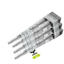 FATMOOSE Pfostenhülse Bodenhülse 4 Stk. Vierkant Befestigungselement 90x90x900mm