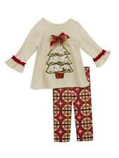 Rare Editions Ivory Red Christmas Tree Legging Set Size 6
