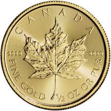 Canada Gold Maple Leaf - 1/2 oz - $20 - BU - .9999 Fine - Random Date