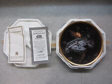 Star Wars Millennium Falcon ~ Space Vehicles Hamilton Plate ~ Coa #1430S