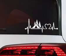 Camping Zelten Auto Aufkleber Wohnmobil Sticker Camper Herzschlag tattoo JDM OEM