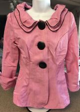Song & Sung Design Today's Small Jacket Coat Blazer Double Collar Pink & Blank.