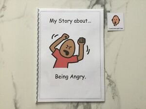 PECS/Boardmaker Anger Management Social Story for Autism/ASD/SEN/ADHD/Aspergers