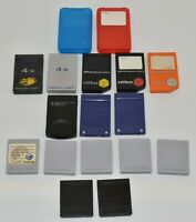 Lot of 17 Various Memory Cards Nintendo Gamecube Nyko MadCatz Black 251 Block