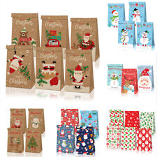 12pcs Christmas Paper Candy Box Cookie Biscuit Treat Gift Bag Xmas Party Favour