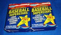 1987 Fleer Baseball Superstars Complete 44 Card Baseball Set Lot of 2