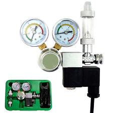 Aquarium Dual Gauge CO2 System Pressure Regulator w/ Bubble Counter Solenoid