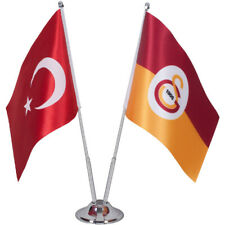 Galatasaray Istanbul & Turkey Table Flag | Desk Flag Banner| Turkish Fan Product