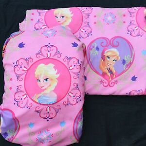 "SET DISNEY LABEL ""FROZEN"" ROSE PINK TWIN BED MICROFIBER SHEETS- ELSA & ANNA"