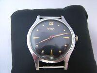 Vintage Doxa Oversize Big 38mm 1950's Swiss Watch, black dial