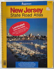 VINTAGE HAGSTROM NEW JERSEY STATE ROAD ATLAS LAMINATED HEAVY DUTY EDITION  1994
