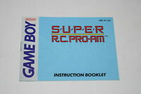 Super R.C. Pro-Am Nintendo Game Boy Video Game Manual Only