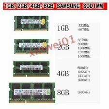 lot SODIMM 200/204pin Ram Memory DDR3 1GB/2GB/4GB Notebook Samsung Laptop DDR2 D
