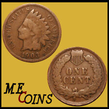 1903 Indian Head Cent Penny , Circulated Good-Very Good , US Coin