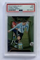 LIONEL MESSI 2015 Panini Select Soccer Striped Jersey #65 Argentina PSA 9