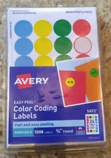 """Avery Dennison Ave-05472 Print Or Write Round Color Coding Label - 0.75"""""""