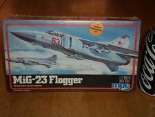 MiG-23 FLOGGER, SWING-WING SOVIET FIGHTER PLANE, Plastic Model Kit, Scale 1/72