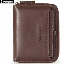 Baellerry Men Fashion Wallets PU Leather Male Wallet Purple