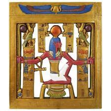 "36"" Ancient Egyptian King Tut God Of Eternity Sculptural Wall Frieze Decor"