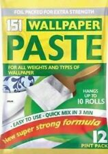 05 Roll Wallpaper Paste PK 06 Pints Super Strong Stick Adhesive All Purpose