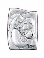 Quadro Icona Sacra Famiglia Argento 925 e legno, arte sacra