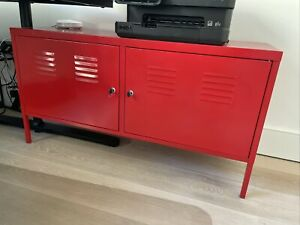 Ikea PS Metal Multi Use Cabinet,Home Office Storage,TV Bench,119x63 cm, Red