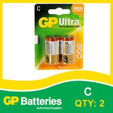 Gp Ultra Alcalina C batería Tarjeta De 2 [ Mp3, Cámaras Consolas De Juegos + Otros ]
