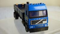 Vintage Cararama Blue Volvo FH 16 Heavy Loader Plastic Flatbed Lorry Truck Toy