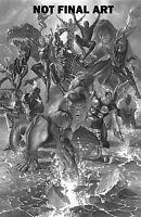 MARVEL LEGACY #1 ALEX ROSS B&W VARIANT AVENGERS SPIDERMAN CAPTAIN MARVEL COMICS