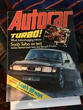 Saab 99 Turbo---Magazine article----Rare/Collection
