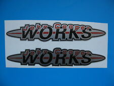 John Cooper Works Stickers Decals BMW, MINI, ROVER 150mm x 30mm x2