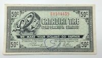 1962 Canadian Tire Money 50 Fifty Cents CTC-7-J-U Circulated Mor Power Gas E167