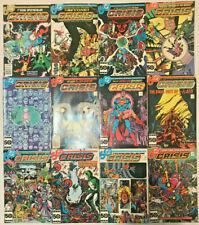 CRISIS ON INFINITE EARTHS#1-12  VF-VF+ LOT 1985 FULL RUN DC COMICS
