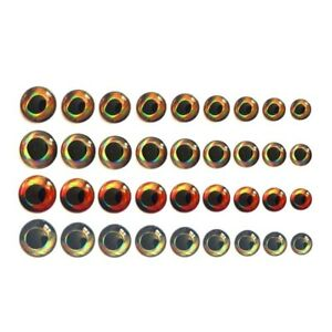 50pcs Fishing Fish Eyes 3D Bead Fly Tying Reservoir Pond Making Bait Accessories